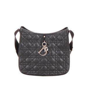 Dior Cannage Coated Canvas Crossbody Bag