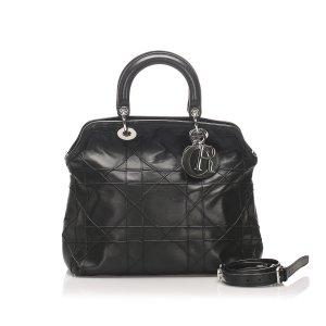 Dior Satchel zwart Leer