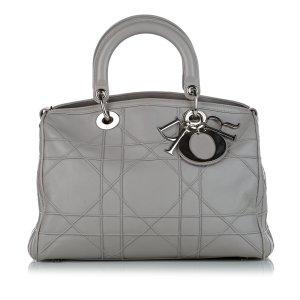 Dior Sacoche gris clair cuir