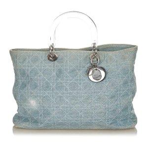 Dior Tote light blue cotton