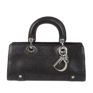 Dior Cannage Lady Dior East West Leather Handbag