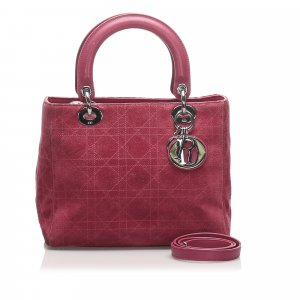 Dior Cannage Lady Dior Leather Satchel