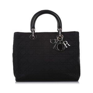 Dior Cannage Lady Dior Nylon Handbag