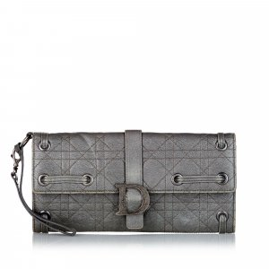 Dior Wallet green leather
