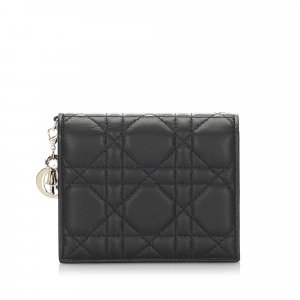 Dior Cannage Mini Lady Dior Compact Wallet