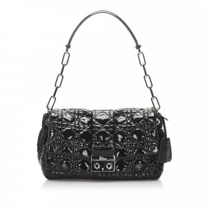 Dior Cannage Miss Dior Patent Leather Flap Bag