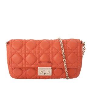 Dior Borsa a spalla arancione Pelle