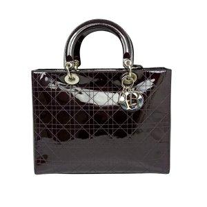 Dior Satchel dark brown imitation leather
