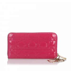 Dior Cannage Patent Leather Wallet