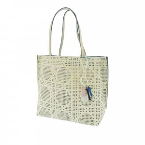 Dior Cannage Perforated Leather Tote Bag