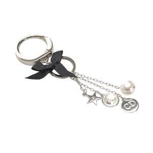 Dior Key Chain silver-colored metal