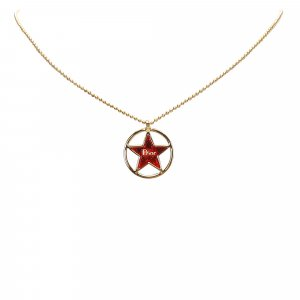 Dior Circle Star Pendant Necklace