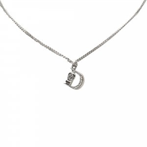 Dior D Logo Pendant Necklace