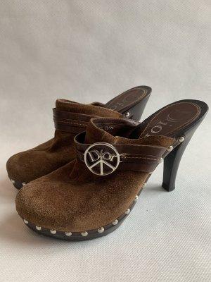 Christian Dior Heel Pantolettes brown