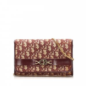 Dior Dior Oblique Canvas Chain Shoulder Bag