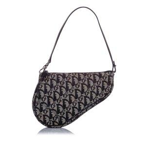 Dior Dior Oblique Canvas Mini Saddle