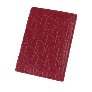 Dior Porte-cartes rouge cuir