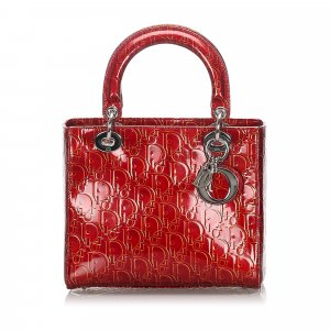 Dior Dior Oblique Patent Leather Lady Dior