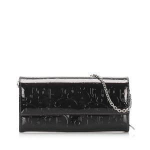 Dior Dior Oblique Patent Leather Long Wallet