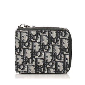Dior Dior Oblique Zip Around Canvas Coin Pouch