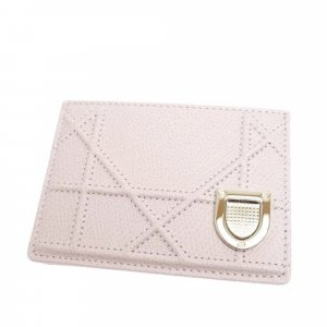 Dior Card Case light pink leather