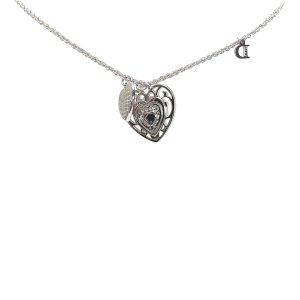 Dior Double Heart Pendant Necklace