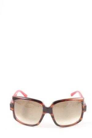 Dior Kwadratowe okulary przeciwsłoneczne brązowy-czerwony Zwierzęcy wzór