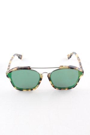 Dior eckige Sonnenbrille Leomuster Casual-Look
