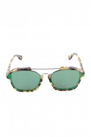 Dior Gafas de sol cuadradas estampado de leopardo look casual