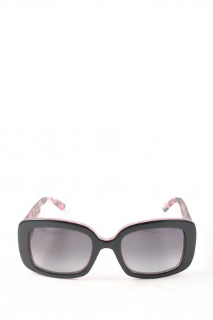 Dior Angular Shaped Sunglasses pink-black abstract pattern casual look
