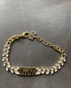 Christian Dior Braccialetto sottile oro-bianco