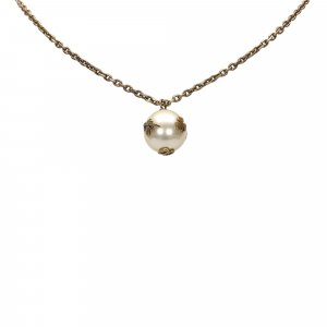 Dior Faux Pearl Pendant Necklace