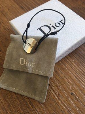 Dior Braccialetto dell'amicizia nero-argento