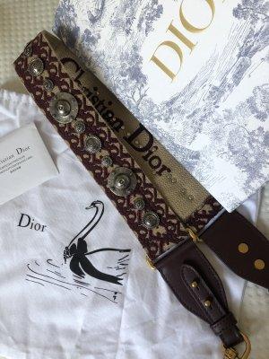 Dior Gitarrengurt Trageriemen dunkelrot Bordeaux