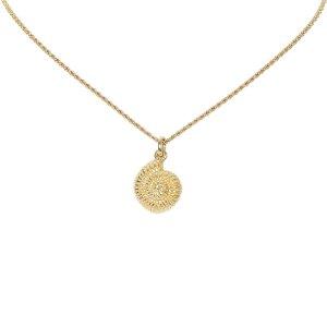 Dior Gold Ammonite Charm Necklace