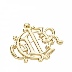 Dior Brooch gold-colored metal