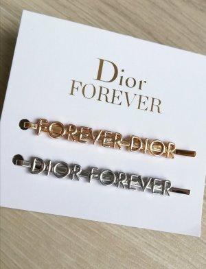 Christian Dior Klamra do włosów srebrny-złoto