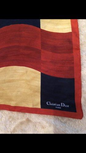 Dior Foulard doré-rouge foncé