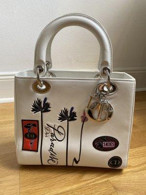 Dior Handtasche mit Verzierungen in weiß