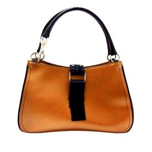 Dior Handbag bronze-colored leather