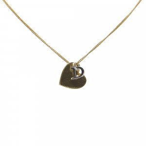 Dior Heart Logo Pendant Necklace