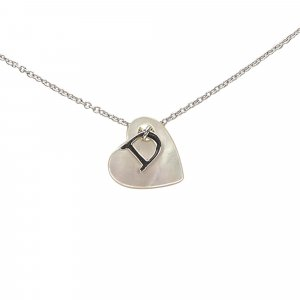 Dior Heart Shell Pendant Necklace