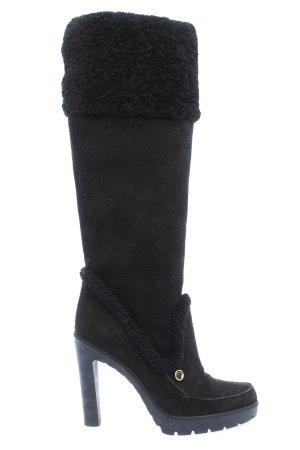 Dior Wysokie buty na obcasie czarny Elegancki