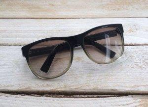 Dior Gafas de sol ovaladas negro-marrón