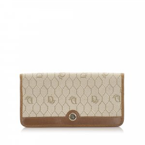 Dior Honeycomb Canvas Long Wallet