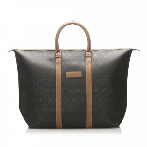 Dior Honeycomb Coated Canvas Travel Bag
