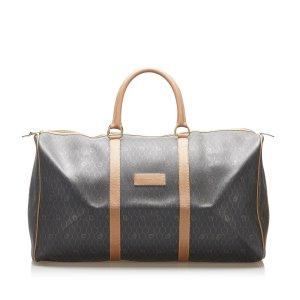 Dior Travel Bag dark brown polyvinyl chloride