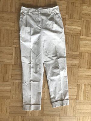 Christian Dior Peg Top Trousers white-natural white cotton
