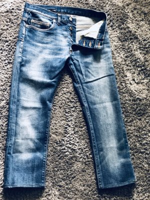 Dior 3/4 Length Jeans steel blue