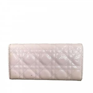 Dior Lady Dior Cannage Patent Leather Wallet On Chain